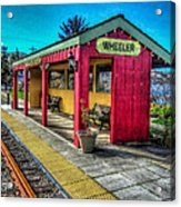 Norm Laknes Train Station Acrylic Print