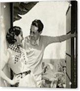 Norma Shearer And Irving Thalberg In A Garden Acrylic Print