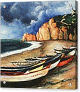 Normandy Coast - Landscape Oil Acrylic Print