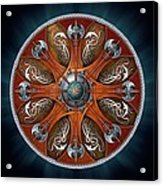 Norse Aegishjalmur Shield Acrylic Print by Richard Barnes