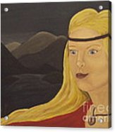 Norse Goddess Freya Acrylic Print by Megan Cockrell