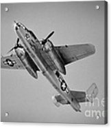 North American B-25 Mitchell Bw Acrylic Print