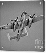 North American B-25j Bw Acrylic Print