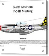 North American P-51d Shimmy Iv Acrylic Print