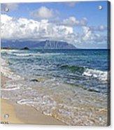 North Beach Kaneohe 7 Watermarked Acrylic Print
