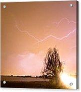 North Boulder County Colorado Lightning Strike Acrylic Print by James BO  Insogna