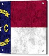 North Carolina Flag Acrylic Print by World Art Prints And Designs