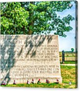 North Carolina Memorial Gettysburg Battleground Acrylic Print