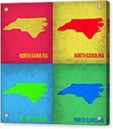 North Carolina Pop Art Map 1 Acrylic Print