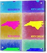 North Carolina Pop Art Map 2 Acrylic Print