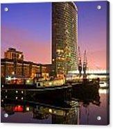 North Dock In Canary Wharf. Acrylic Print