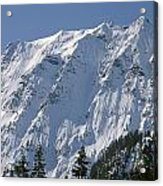 1m4443-north Face Of Big Four Mountain Acrylic Print