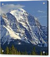 1m3549-north Face Of Mt. Temple Acrylic Print