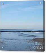 North Hampton Beach At Very Low Tide Acrylic Print