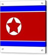 North Korea Flag Acrylic Print