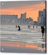 North Myrtle Beach At Sunset Acrylic Print