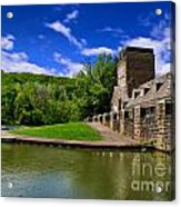 North Park Boathouse In Hdr Acrylic Print by Amy Cicconi