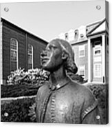 North Park College Nyvall Hall Sculpture Acrylic Print