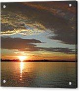 North River Sunset Acrylic Print