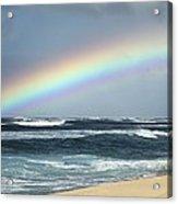 North Shore Oahu Rainbow Acrylic Print