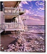 North Topsail Beach Tides That Tell Acrylic Print