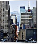 North Up Seventh Avenue Acrylic Print