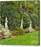 North Vista - Spring Flower Blooms At The North Vista Lawn Of The Huntington Library. Acrylic Print