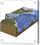 North-western Atlantic, Bathymetry Model Acrylic Print