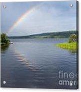 Northern Bc Calm Taiga Lake Rainbow Canada Acrylic Print