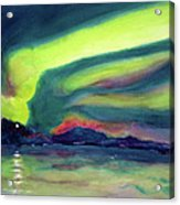 Northern Lights On Superior Shores Acrylic Print