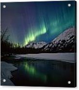 Northern Lights Over Portage River Acrylic Print