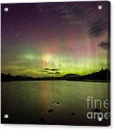 Northern Lights Over Ricker Pond Acrylic Print