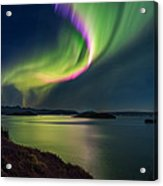 Northern Lights Over Thingvallavatn Or Acrylic Print