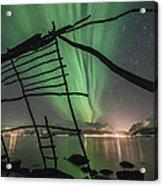 Northern Lights Rays Acrylic Print