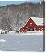 Northern Michigan Country Winter Acrylic Print