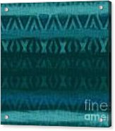 Northern Teal Weave Acrylic Print by CR Leyland