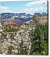 Northgate Peaks Trail From Kolob Terrace Road In Zion National Park-utah Acrylic Print