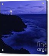 Northhead Ilwaco Lighthouse Washington Coastline Acrylic Print