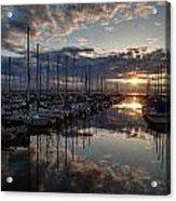 Northwest Sunset Marina Acrylic Print