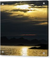 Norway Dramatic Evening Light Acrylic Print