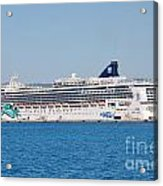 Norwegian Jade Cruise Ship Corfu Acrylic Print