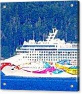 Norwegian Jewel Cruise Ship Acrylic Print