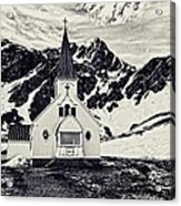 Norwegian Lutheran Church Grytviken Acrylic Print
