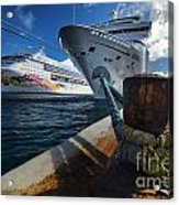 Norwegian Sky Carnival Sensation And Royal Caribbean Majesty Acrylic Print