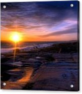 Norwegian Sunset Acrylic Print by Bruce Nutting