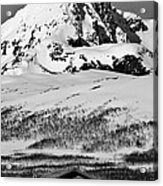 Norwegian Winter Mountain Cabin Acrylic Print