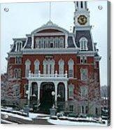 Norwich City Hall In Winter Acrylic Print