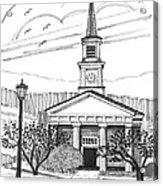 Norwich University White Chapel Acrylic Print