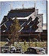 Nostalgia Old Faithful Inn By Cathy Anderson Acrylic Print