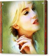 Nostalgic Beauty Acrylic Print